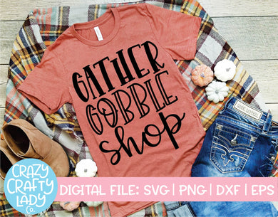 Gather Gobble Shop SVG Cut File