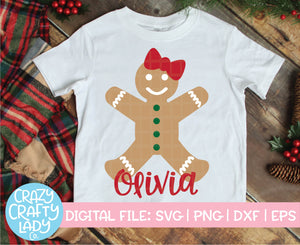 Gingerbread Girl SVG Cut File