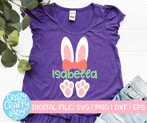 Girl Bunny Ears & Feet SVG Cut File