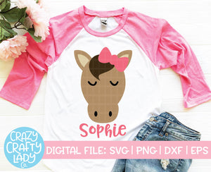 Girl Horse SVG Cut File