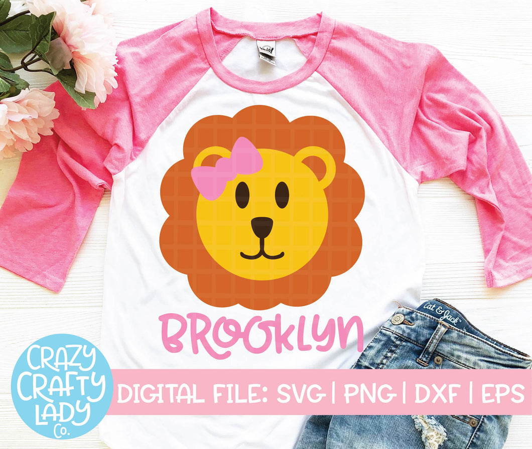 Girl Lion SVG Cut File