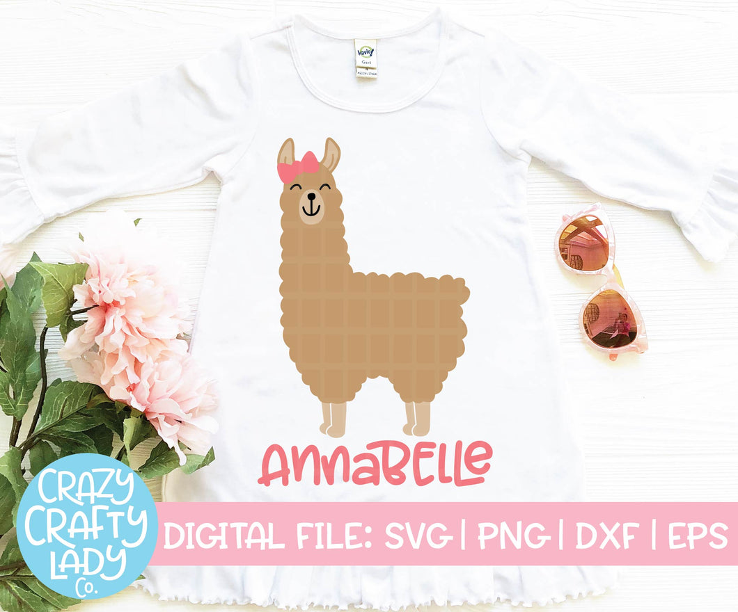 Girl Llama SVG Cut File