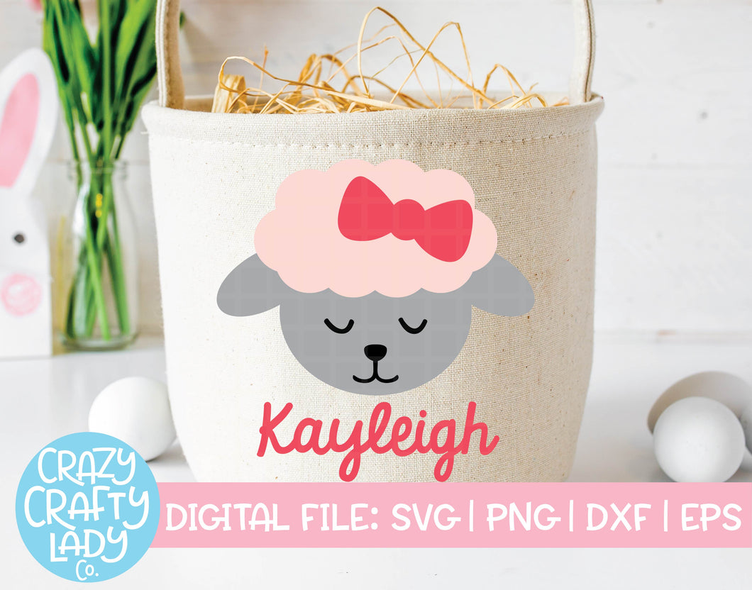 Girl Lamb SVG Cut File