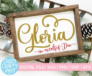 Gloria in Excelsis Deo SVG Cut File