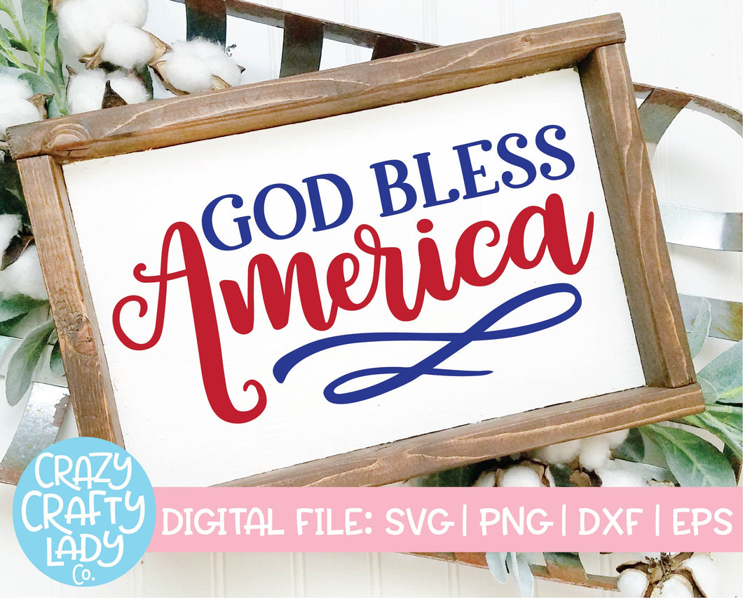 God Bless America SVG Cut File