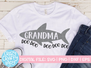 Grandma Shark SVG Cut File