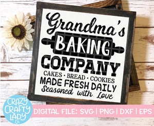 Grandma's Baking Company SVG Cut File