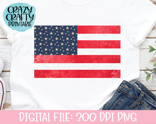American Flag PNG Printable File