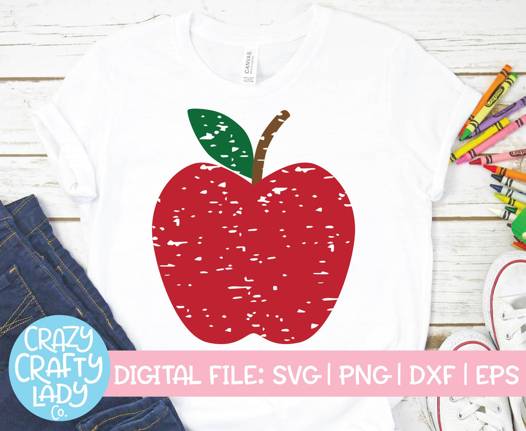 Grunge Apple SVG Cut File