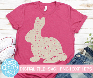 Grunge Bunny SVG Cut File