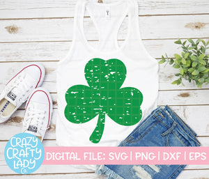 Grunge Clover SVG Cut File