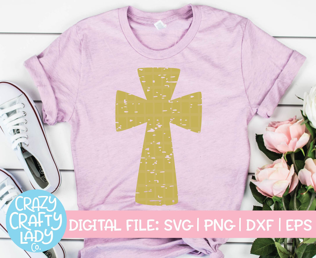 Grunge Cross SVG Cut File