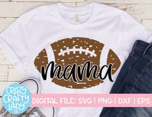 Grunge Football Mama SVG Cut File