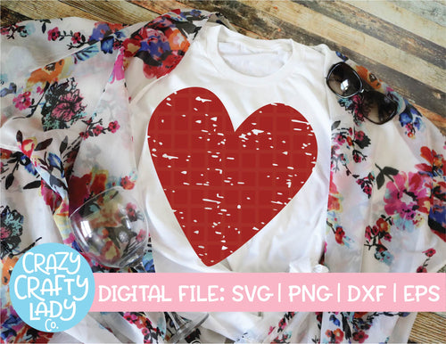 Grunge Heart SVG Cut File