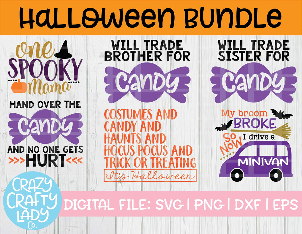 Halloween SVG Cut File Bundle