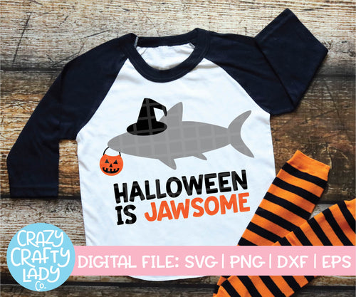 Halloween Is Jawsome SVG Cut File