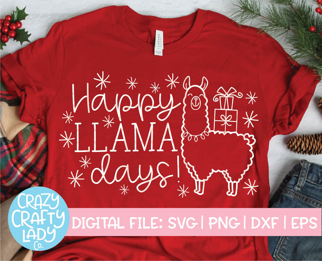 Happy Llama Days SVG Cut File