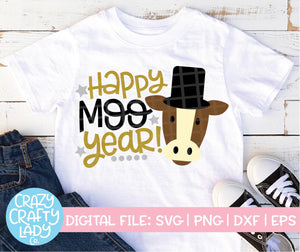 Happy Moo Year SVG Cut File