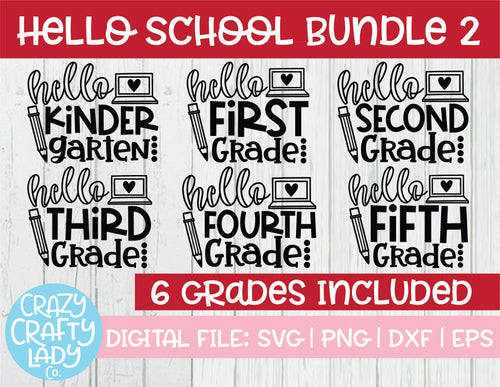 Hello School SVG Cut File Bundle