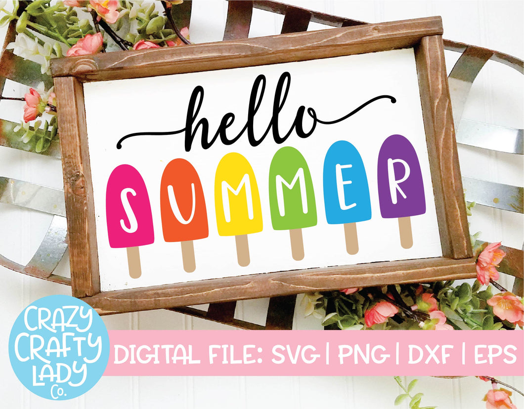 Hello Summer SVG Cut File