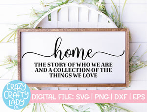 Home: The Story of Who We Are SVG Cut File