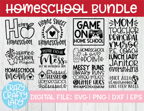 Homeschool SVG Cut File Bundle