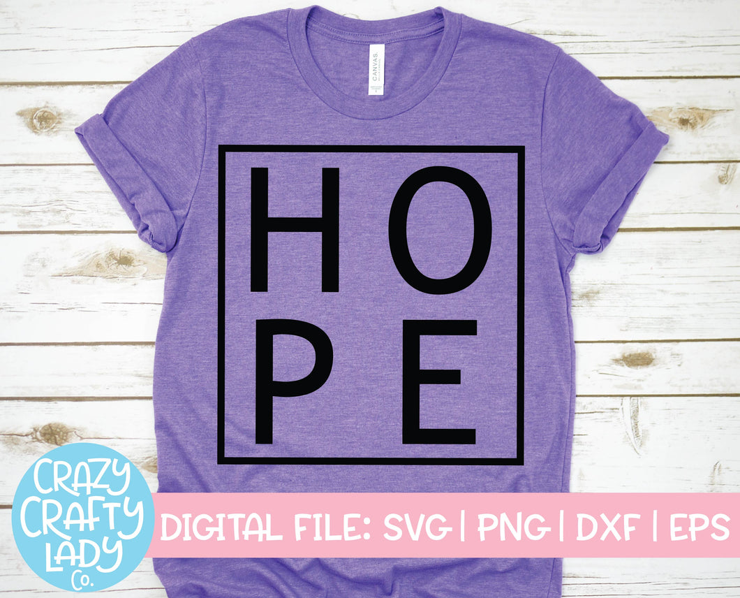 Hope SVG Cut File