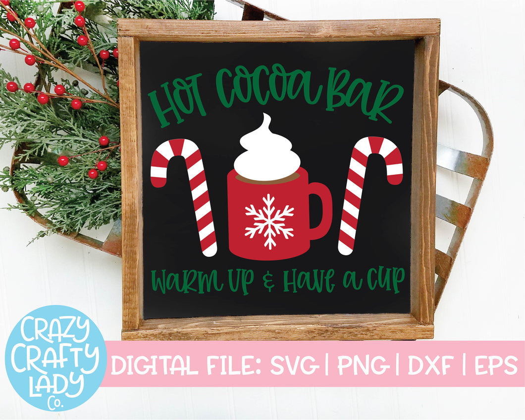 Hot Cocoa Bar SVG Cut File