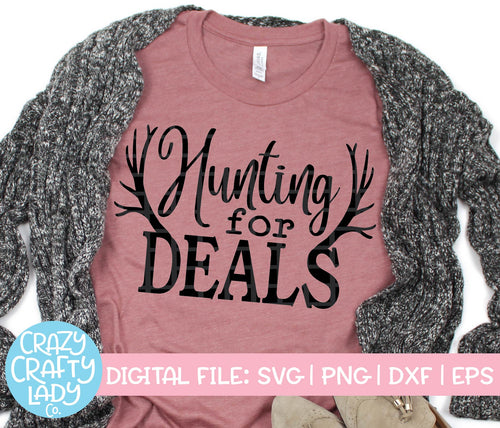 Hunting for Deals SVG Cut File