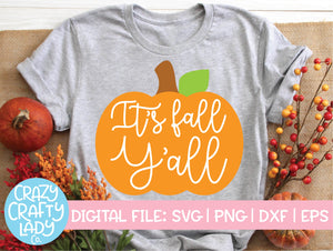 It's Fall Y'all SVG Cut File