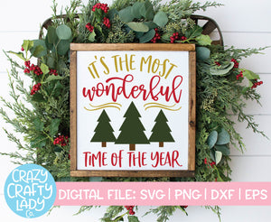 It's the Most Wonderful Time of the Year SVG Cut File