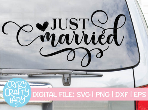 Just Married SVG Cut File
