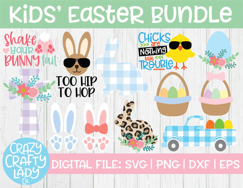 Kids' Easter SVG Cut File Bundle