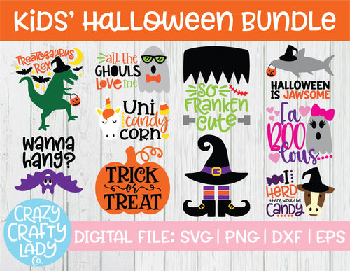 Kids' Halloween SVG Cut File Bundle