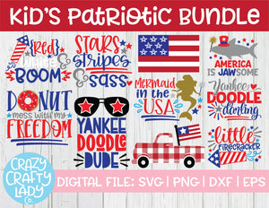 Kids' Patriotic SVG Cut File Bundle