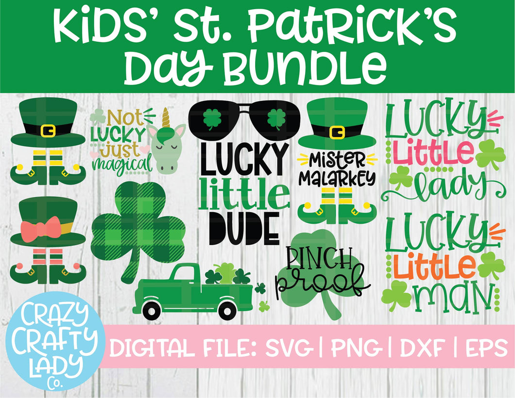 Kids' St. Patrick's Day SVG Cut File Bundle