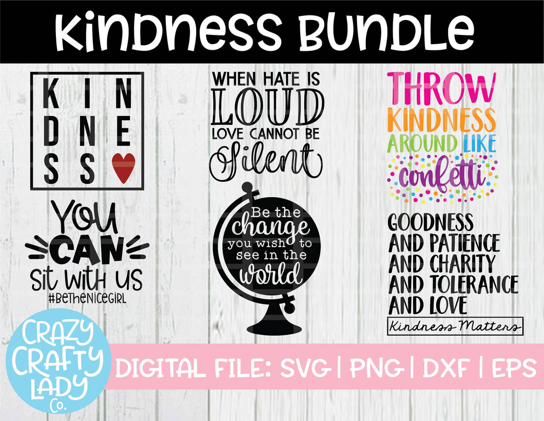 Kindness SVG Cut File Bundle