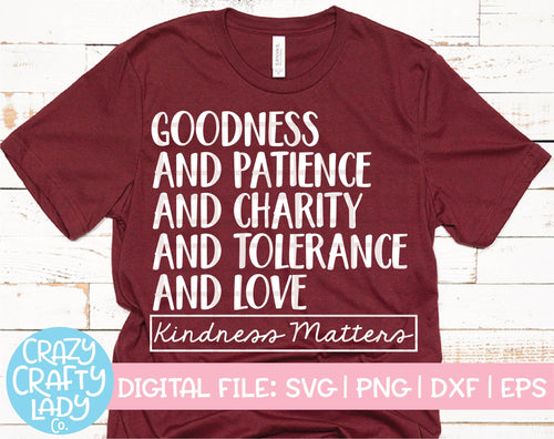 Kindness Matters SVG Cut File
