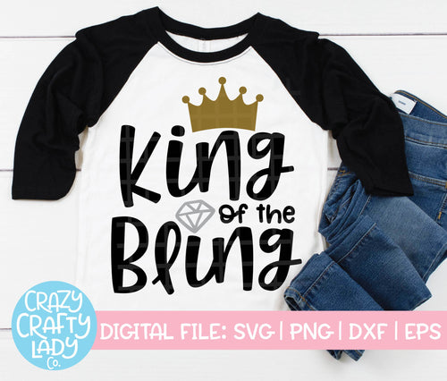 King of the Bling SVG Cut File