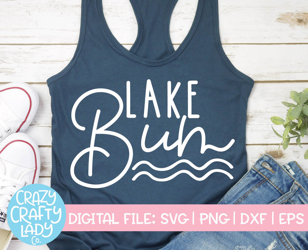 Lake Bum SVG Cut File