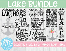 Load image into Gallery viewer, Lake SVG Cut File Bundle