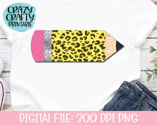 Leopard Print Pencil PNG Printable File