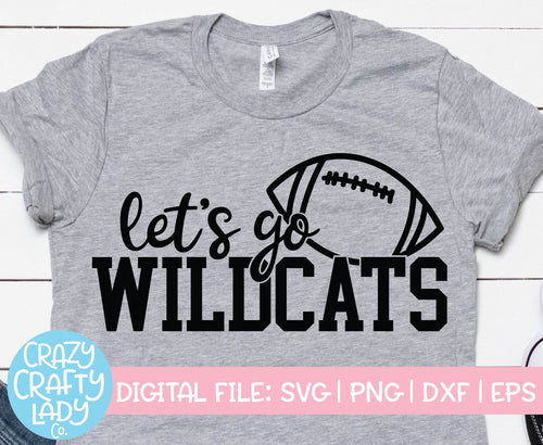 Let's Go Wildcats SVG Cut File