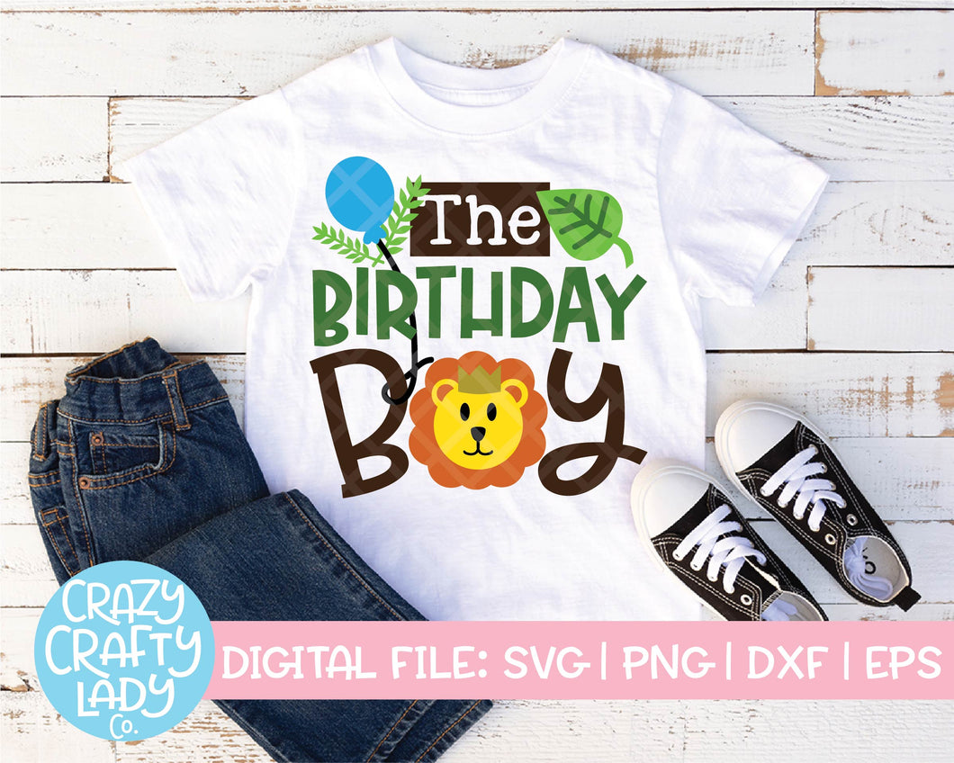Lion Birthday Boy SVG Cut File