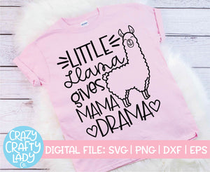 Mama Llama & Little Llama SVG Cut File Bundle