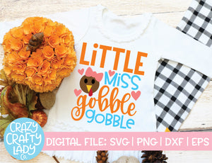 Little Miss Gobble Gobble SVG Cut File