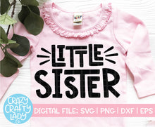 Load image into Gallery viewer, Big & Little Sister SVG Cut File Bundle
