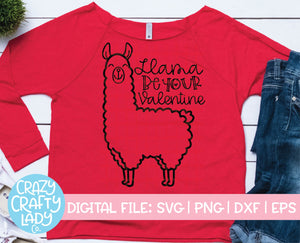 Llama Be Your Valentine SVG Cut File