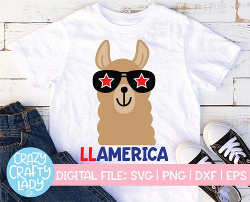 Llamerica SVG Cut File