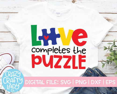 Love Completes the Puzzle SVG Cut File